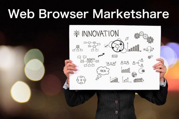 常に最新のWebブラウザの市場シェア動向を確認できるサービス