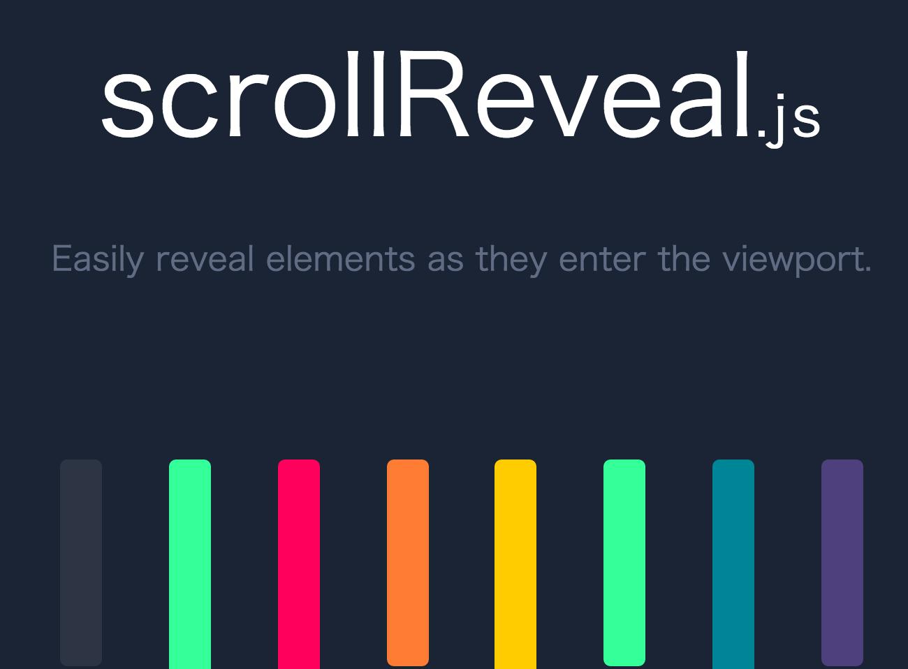 スクロールして要素を個別にアニメーション表示しパララックスにも使える「scrollReveal.js」