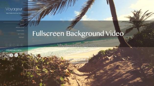 Voyageurテーマにフルスクリーン背景ビデオ表示機能を搭載!