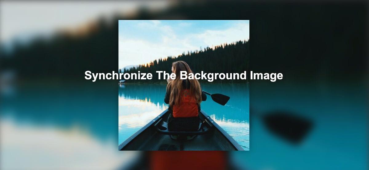 画像(img)を指定すると背景画像も同期してぼかし表示するサンプルコード