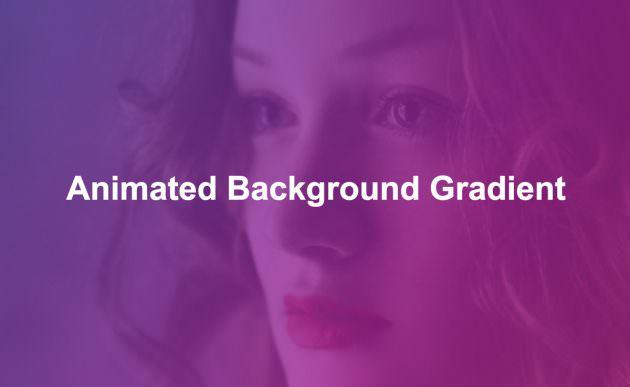 背景画像に変色するグラデーション背景を重ね合わせるサンプル