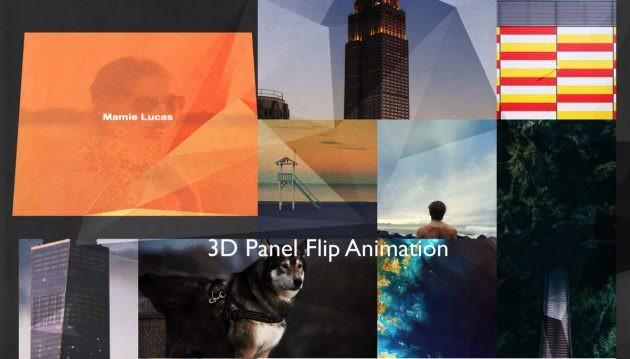 [CSS]マウスオーバーで平面が回転する3Dアニメーションギャラリーサンプル