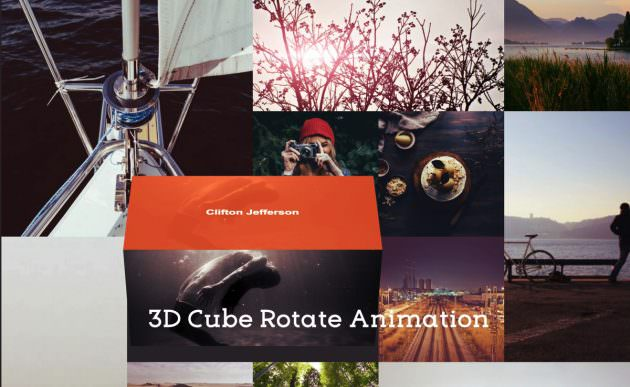 [CSS]マウスオーバーで立方体が回転する3Dアニメーションギャラリーサンプル