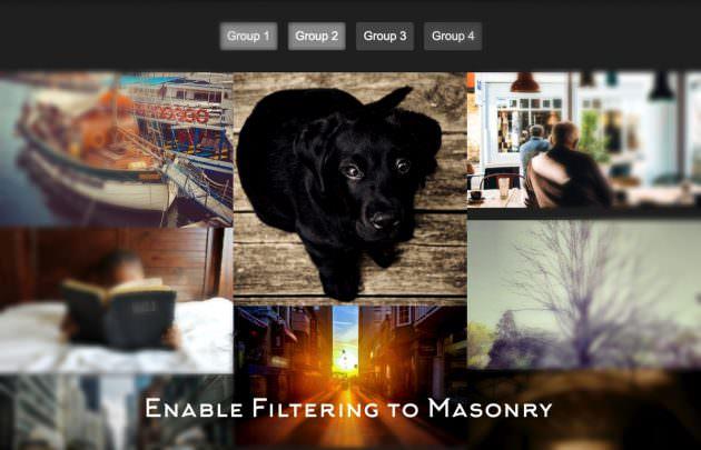 自動タイルレイアウト用プラグイン「Masonry」にフィルター機能を付ける「Multiple Filter Masonry」