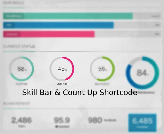 商用サイトで重宝するスキルバー&カウントアップショートコードを専用プラグインに追加!