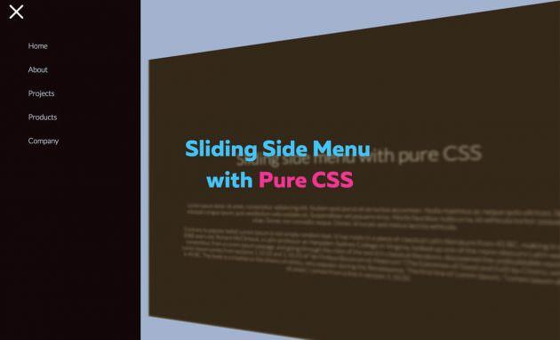 CSSのみでグローバルメニューを3Dアニメーションで開閉表示するサンプル