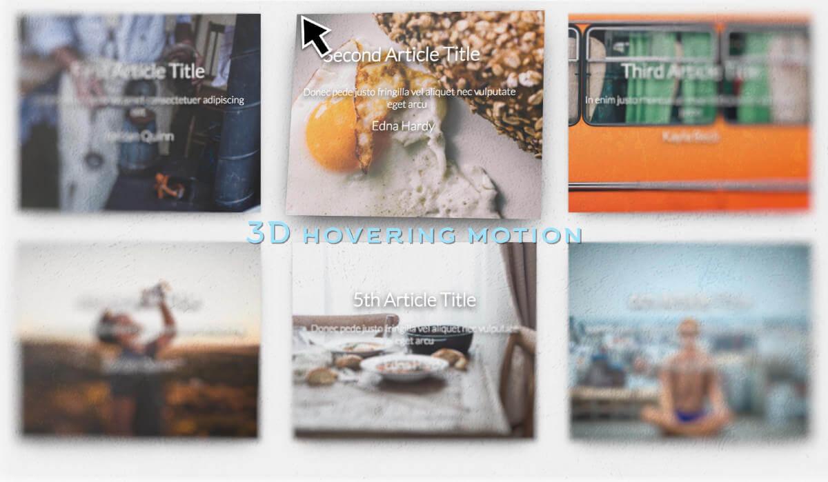 マウスオーバーで常にカーソル位置を向いて変形する3Dアニメーションサンプル