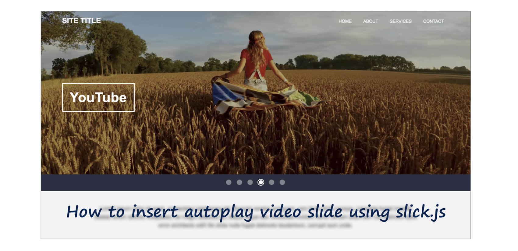 slick.jsにYouTube, Vimeo, video要素の動画を含めて自動再生するスライダーを生成する方法